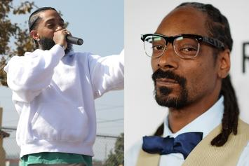 Snoop Dogg Offers Heartfelt Prayers To Nipsey Hussle & Lauren London