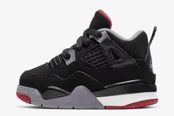 "Air Jordan 4 ""Bred"" Will Release In Toddler Sizes: Report"