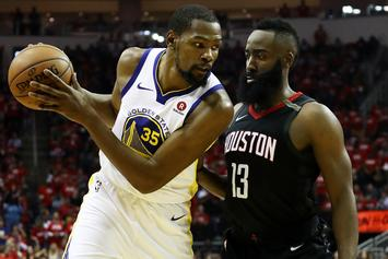 """Kevin Durant On James Harden Chasing Fouls: He's """"Not Cheating The Game"""""""