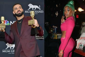 """Drake & Megan Thee Stallion Hug It Out In """"Friends In Vegas"""" Photo"""