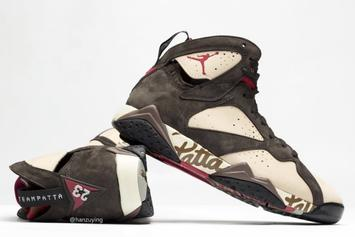 f5e2a570151 Patta Air Jordan 7 Collab Releasing In June: New Images · SNEAKERS · Patta Air  Jordan 7 ...