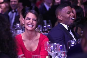 Katie Holmes & Jamie Foxx Make Their Pink Carpet Debut As A Couple