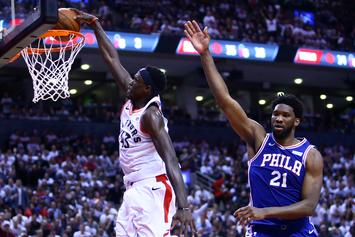 Joel Embiid Reacts To Taunts From Drake And Other Raptors Fans