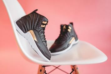 """Air Jordan 12 """"Midnight Black"""" Releases Today: Purchase Links"""