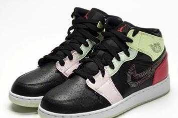 Air Jordan 1 Mid Dropping In Eclectic Glow In The Dark Model: Photos