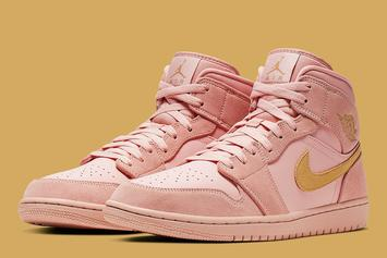 """Air Jordan 1 Mid SE """"Coral/Gold"""" Dropping Soon: Official Images"""