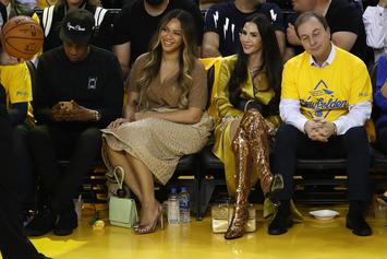 Jay Z Talks To Warriors Owner's Wife At Game 3, Beyoncé Fans Attack