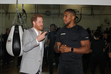 Anthony Joshua Hits Up Charity Event With Prince Harry After Historic Loss