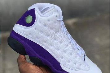 Lakers Inspired Air Jordan 13 Releases Next Month, Closer Look