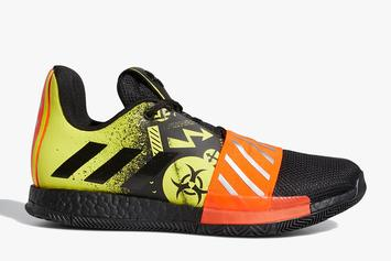 "James Harden's Adidas Harden Vol. 3 Launches In ""Toxic"" Colorway"