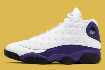 """Lakers"" Air Jordan 13 Retro Drops Next Weekend: Official Photos"