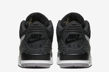 "Air Jordan 3 Tinker ""Black Cement"" Official Photos Finally Revealed"