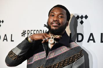 Meek Mill's Son Jumps On Stage To Freestyle For Roaring Audience