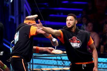 Ben Simmons Posterizes & Stares Down Kids At Charity Event: Watch