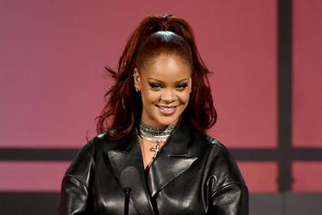 Rihanna Stuns With Pink-Feathered Outfit At Crop Over 2019