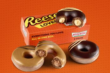 Krispy Kreme & Reese's Join Forces For Chocolate & Peanut Butter Filled Doughnuts