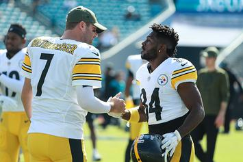 "Antonio Brown Quizzed By Son, ""Where's Roethlisberger?"": Video"