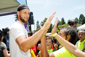 Steph Curry Answers Man's Plea To Rebuild Oakland Basketball Court: Photos