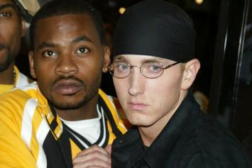 """Eminem, Obie Trice, & Sway Chill In """"Cheers""""-Era Throwback Pic"""