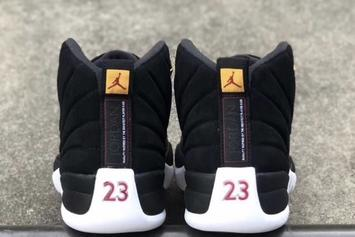 """Air Jordan 12 """"Reverse Taxi"""" Releasing With A Smooth Black Suede: Photos"""