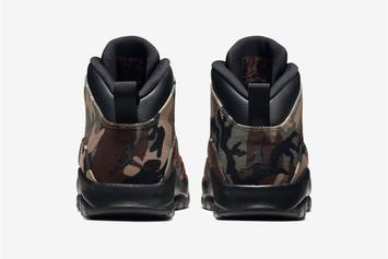 """Air Jordan 10 """"Woodland Camo"""" Official Images, Release Date Announced"""