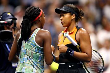 Naomi Osaka Encourages Coco Gauff To Join Her In Tear-Filled Post-Match Interview