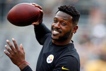 "Antonio Brown Denies Allegations, Agent Says: ""This Is A Money Grab"""