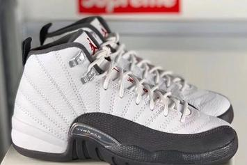 "Air Jordan 12 ""Dark Grey"" Coming Later This Year: In-Hand Look"