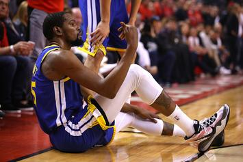 """Kyrie Irving Shades Warriors Over KD Injury: """"We All Know K Was Not Ready To Play"""""""