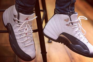 "Air Jordan 12 ""Dark Grey"" Releasing This Holiday Season: Detailed Photos"