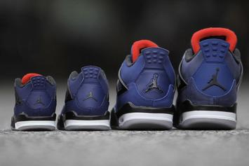 """Air Jordan 4 Winterized """"Loyal Blue"""" Releasing In Sizes For The Whole Fam"""
