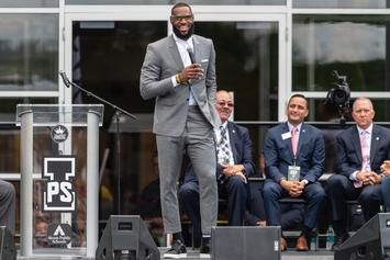 "LeBron James Gifts ""I Promise"" Students With Fire New Nike Shoes: Photos"