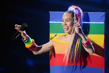 "Miley Cyrus Incites Uproar After Telling Women They ""Don't Have To Be Gay"""