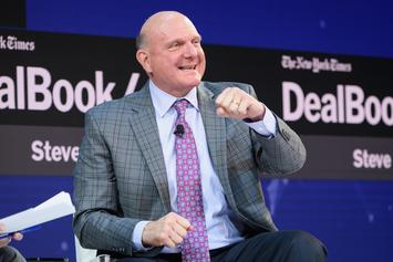 Steve Ballmer Gets Way Too Excited At Clippers Opener And Rips Shirt: Watch