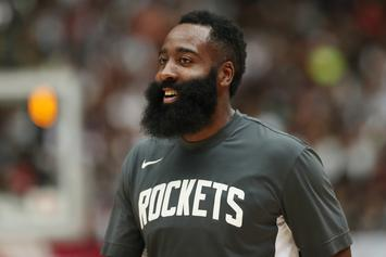 James Harden Accidentally Slams The Ball Into His Own Face After No Call