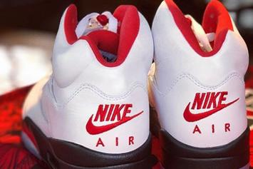 "Air Jordan 5 ""Fire Red"" Reflective Details Revealed: Photos"