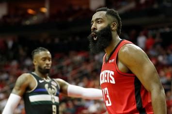 James Harden Claps Back At Disgruntled Spurs Fan: Watch