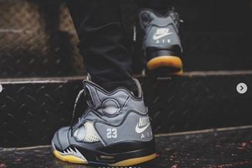 Off-White x Air Jordan 5 New Release Details, On-Foot Photos Revealed