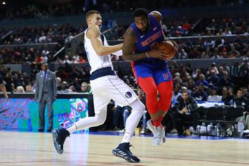 Andre Drummond Reacts To Kristaps Porzingis' Disrespectful Stare-Down