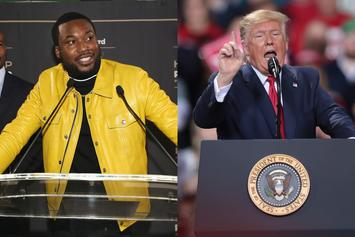 """Meek Mill On Trump's Impeachment: """"He Should Go Live On The Gram"""""""