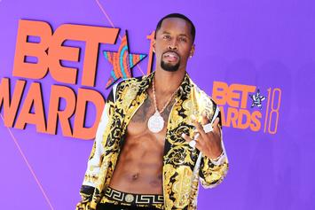 "Safaree Samuels Rocks Fur & Stands On Billboard To Promote ""STRAITT"" Project"