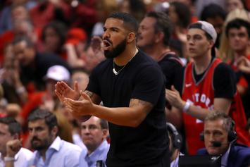 Drake Sinks Shot While Showing Off OVO Basketball Court In Toronto Mansion