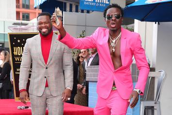50 Cent Confirms Michael Blackson Finally Paid Off Debt At Walk Of Fame Ceremony