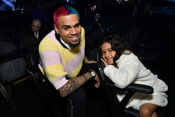 Chris Brown Posts Topless Photo Of Baby Mama Ammika Harris With His Son