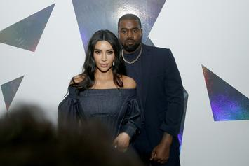 Kim & Kanye West Can't Keep Their Hands Off Each Other At SKIMS Launch