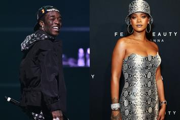 Lil Uzi Vert Flexes For Rihanna In Front Of Her FENTY Pop-Up In NYC