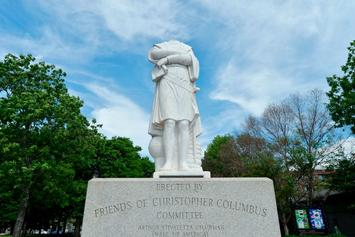 Christopher Columbus Statue Beheaded During Boston Protest