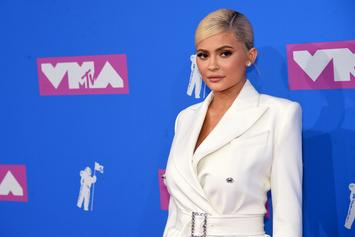 Kylie Jenner Debuts Blonde Hair In See-Through Lingerie