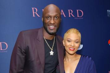 "Lamar Odom Tattoos ""Wifey"" Sabrina Parr's Lips On His Neck"