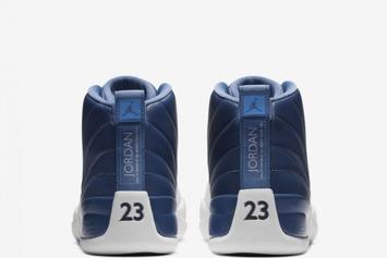 "Air Jordan 12 ""Stone Blue"" Releases Today: Purchase Links"